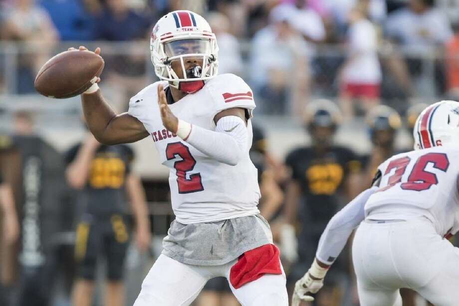Atascocita quarterback Daveon Boyd (2) and the Eagles face Channelview Friday at Maddry Stadium. Photo: Joe Buvid