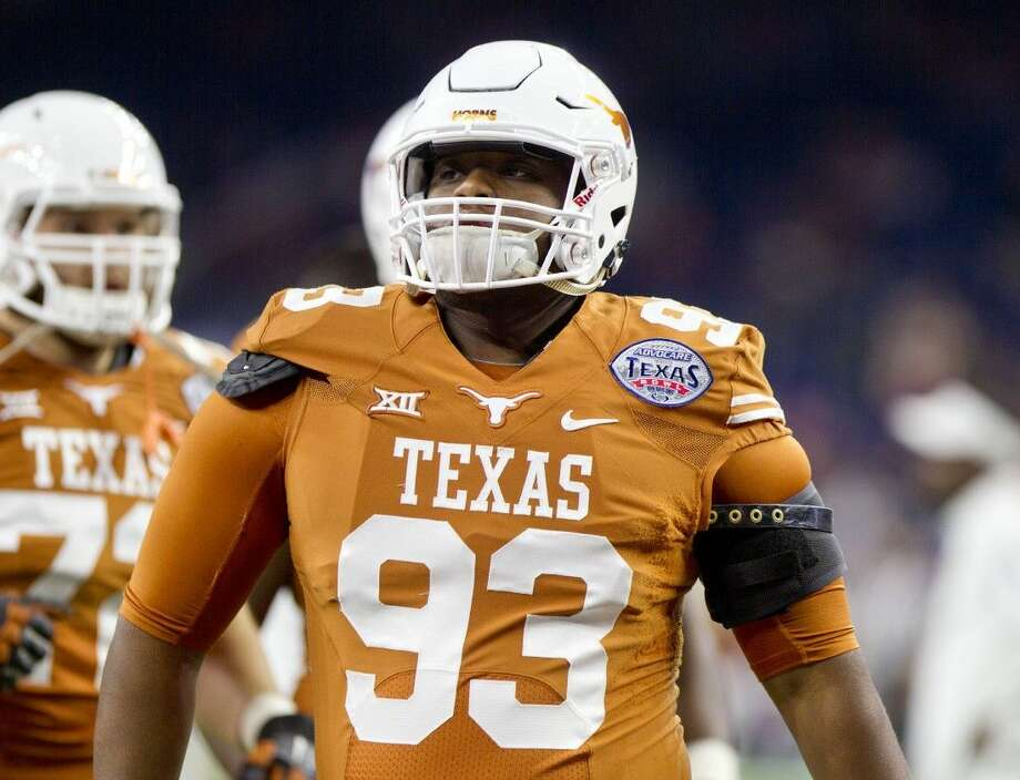 Texas defensive tackle and former Humble Wildcat Paul Boyette Jr. is seen during the Advocate V100 Texas Bowl Monday, Dec. 29, 2014, in Houston. Go to HCNpics.com to view more photos from Texas' game against Arkansas. Photo: Jason Fochtman