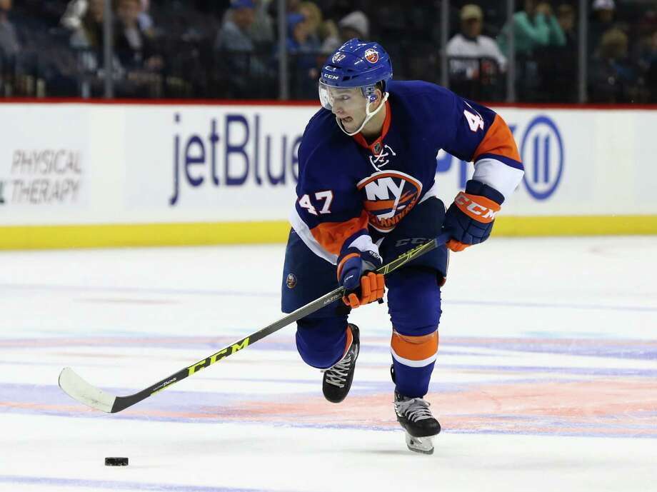 NEW YORK, NY - OCTOBER 03:  Colin Markison #47 of the New York Islanders skates against the New Jersey Devils during their pre season game at Barclays Center on October 3, 2016 in New York City.  (Photo by Al Bello/Getty Images) Photo: Al Bello / Getty Images / 2016 Getty Images