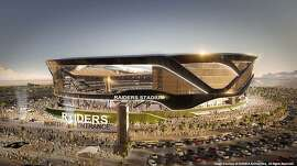 A rendering from the Oakland Raiders' stadium proposal in Las Vegas.  Courtesy MANICA Architecture