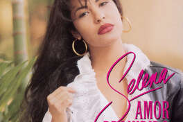 tejano singer Selena Quintanilla Perez. ALBUMS OR CDs CD cover for SELENA AMOR PROHIBIDO. HOUCHRON CAPTION (03/26/2000): Amor Prohibido. HOUCHRON CAPTION (04/01/2005) SECLAVIBRA COLOR: 1994.