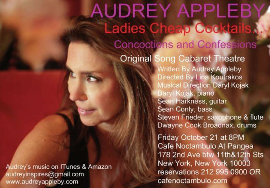 Greenwich resident Audrey Appleby will have her New York City debut at the Original Song Cabaret Theater Show at 8 p.m. Oct. 21 at Cafe Noctambulo at Pangea, 178 Second Ave. between 11th and 12th streets. Reservations 212-995-0900 or online at cafenoctambulo.com Photo: Contributed