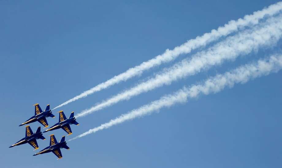 Blue Angels perform at Fleet Week air show Photo: Paul Chinn, The Chronicle