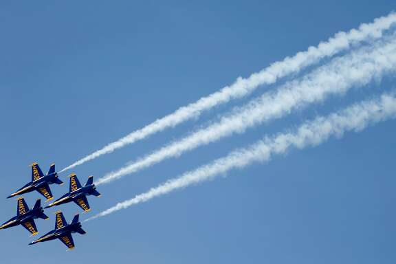 Blue Angels perform at Fleet Week air show