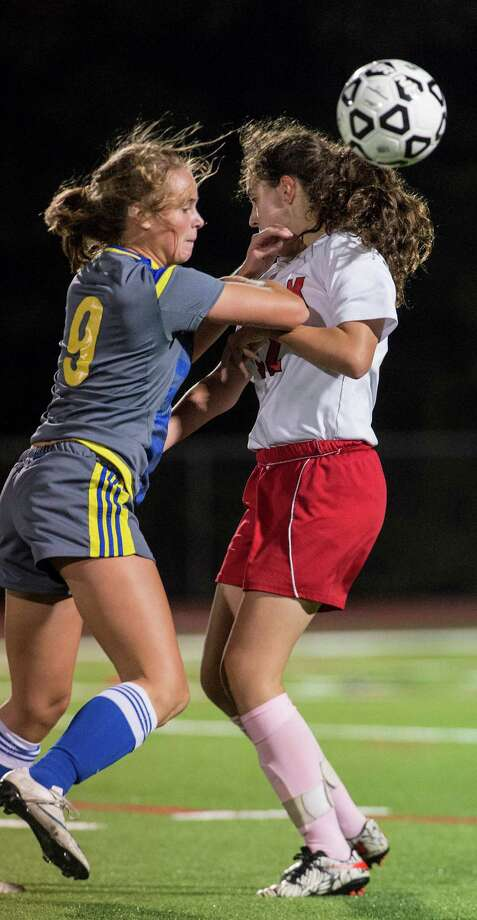 Newtown High School against Masuk High School during a girls soccer game played at Masuk High School, Monroe, CT on Friday, October 7, 2016. Photo: Mark Conrad / For Hearst Connecticut Media / Stamford Advocate Freelance