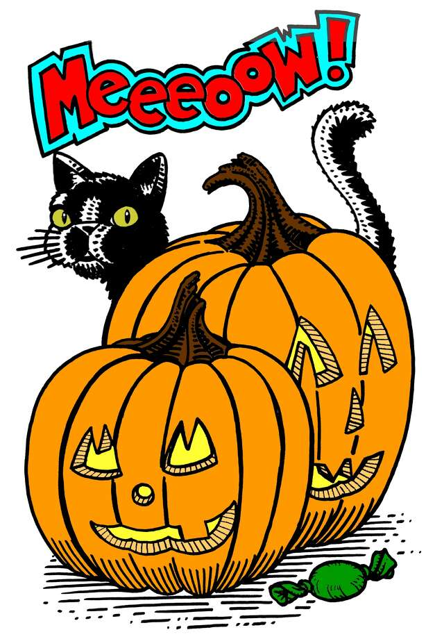 Our wonderful graphic artist Mike Fisher captured the Halloween spirit in eight coloring book images (here's one of them colored in) for the Express-News Halloween Coloring Contest, where two winners each will receive a prize package worth $530. Photo: Mike Fisher, San Antonio Express-News