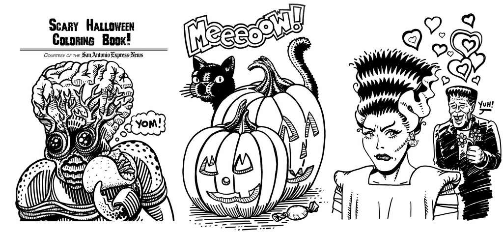 these are just some of the awesome images you can choose to color for a chance - Halloween Coloring Contest 3