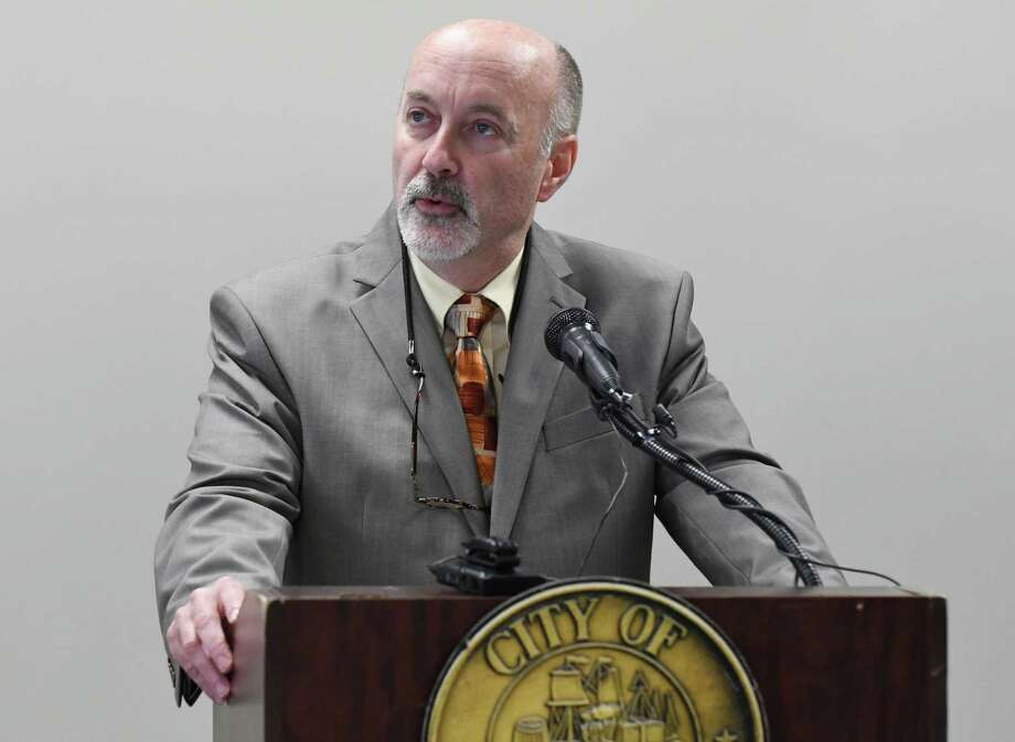 Troy Mayor Patrick Madden unveils his 2017 city budget proposal at City Hall on Friday Oct. 7, 2016, in Troy , N.Y.  (Michael P. Farrell/Times Union) Photo: Michael P. Farrell / 20038323A