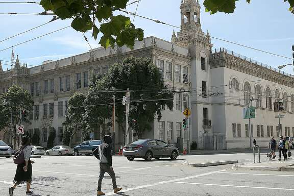 A bond measure would provide some funding to retrofit and rebuild 135 Van Ness Ave. as an art center and art high school on Friday, October 7, 2016, in San Francisco, Calif.  The building is currently used for district offices.