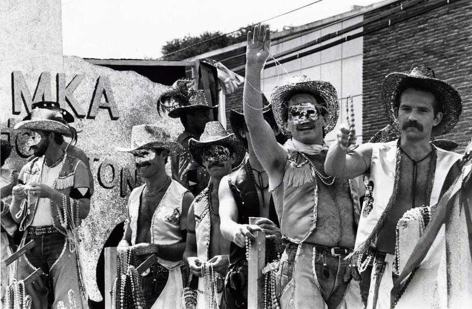 The Gay Pride Week Parade on Westheimer in 1980. (For more photos of LGBT history in Houston, including the murals of Mary's, scroll through the slideshow.) Photo: Roger Powers, HP Staff / Houston Chronicle