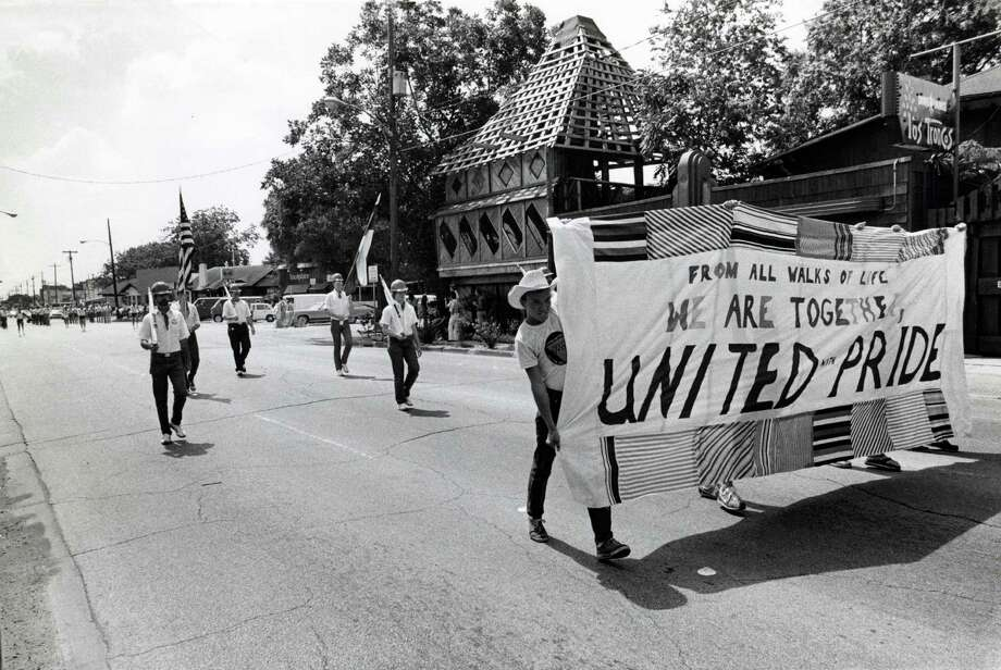 Pride parades haven't always been parties. The 1979 Pride Parade heads down Westheimer. Photo: Jerry Click, HP Staff / Houston Chronicle