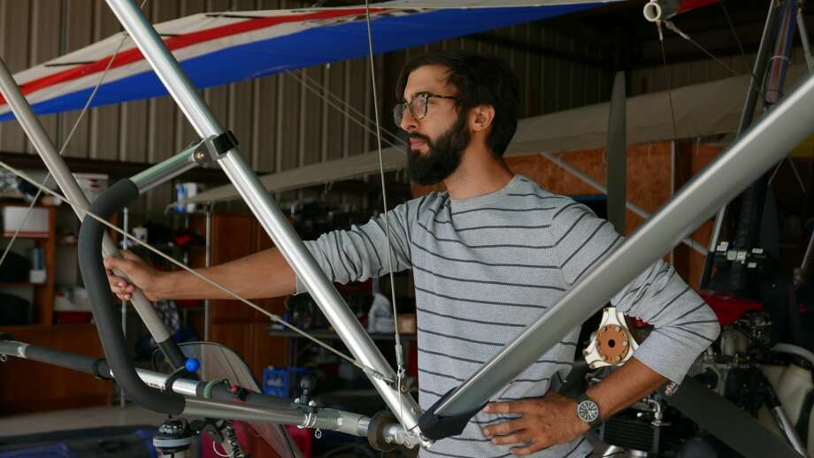 """David Grabowski quit job, ditched his office garb and donned a flight suit for a cross-country flight through the U.S. in a single seat Weight Shift Control, or """"trike,"""" aircraft. He will land in San Antonio Saturday, Oct. 8, 2016. Photo: Courtesy David Grabowski"""