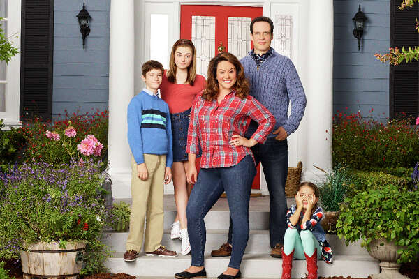 "The cast of ""American Housewife"" on ABC."