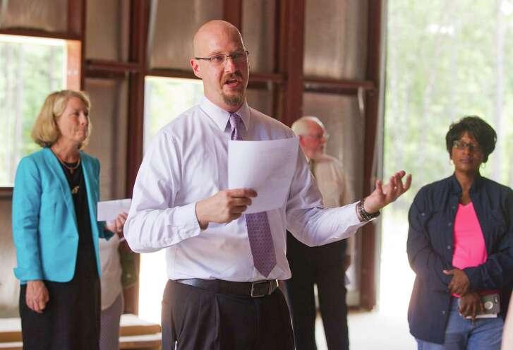 Rev. Scott Moore is executive director of the Methodist church's $1.4 million emergency response center.