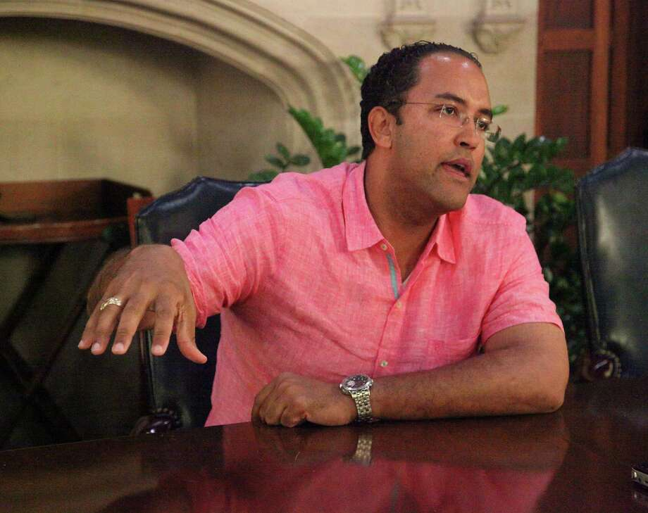 Saen editoral board meeting with U.S. Rep. Will Hurd, Friday October 7, 2016 Photo: Juanito M Garza, Staff / San Antonio Express-News / San Antonio Express-News