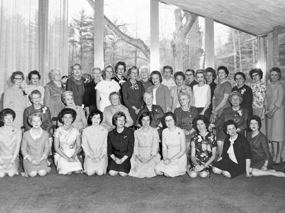 PROVIDED PHOTOS Members of the Woman's Study Club pose for a photo while celebrating their 50th anniversary on April 25, 1966, at the home of Barbara Dow.