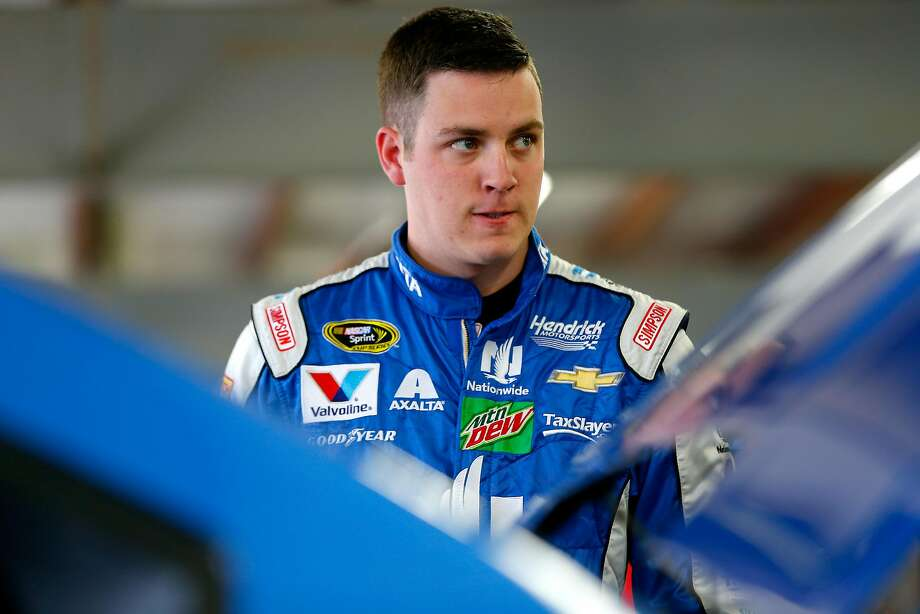Alex Bowman, driving for Dale Earnhardt Jr., will start second in Sunday's Sprint Cup Series 500-mile race at Charlotte Motor Speedway. Photo: Jonathan Ferrey, Getty Images