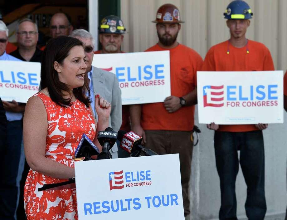 Representative Elise Stefanik speaks at D. A. Collins  August 29, 2016 in Wilton, N.Y.   (Skip Dickstein/Times Union) Photo: SKIP DICKSTEIN / 20037817A