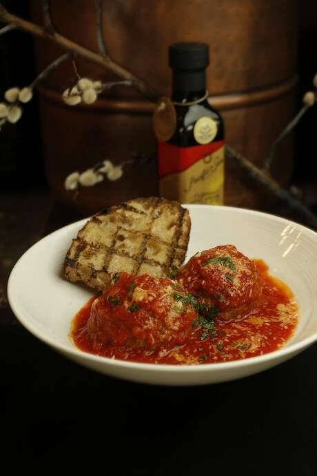 Fontina stuffed meatballs at Seven Hills restaurant. Photo: Michael Macor, The Chronicle