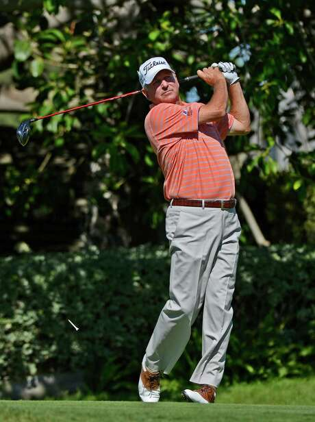NEWPORT BEACH, CA - OCTOBER 08:  Jay Haas makes a tee shot on the sixth hole during the second round of the Toshiba Classic at the Newport Beach Country Club on October 8, 2016 in Newport Beach, California.  (Photo by Robert Laberge/Getty Images) Photo: Robert Laberge, Stringer / 2016 Getty Images