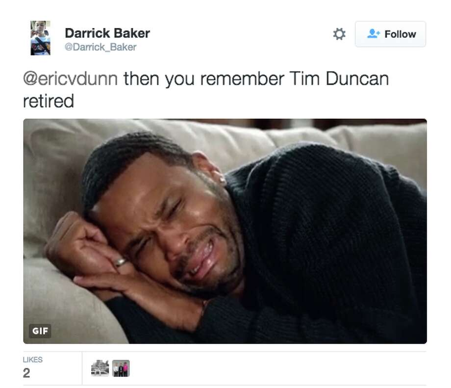 Spurs fans react to life without Duncan. Photo: Twitter
