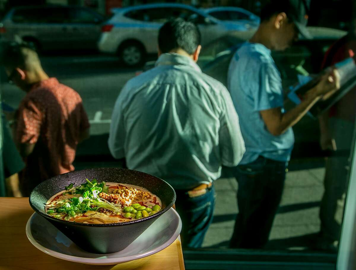 The Vegan Tantanmen at Mensho Ramen in San Francisco, Calif. is seen on October 8th, 2016.