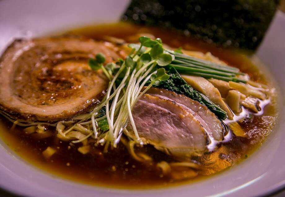 Organic shoyu ramen with pork and chicken at Mensho Tokyo in S.F. Photo: John Storey, Special To The Chronicle