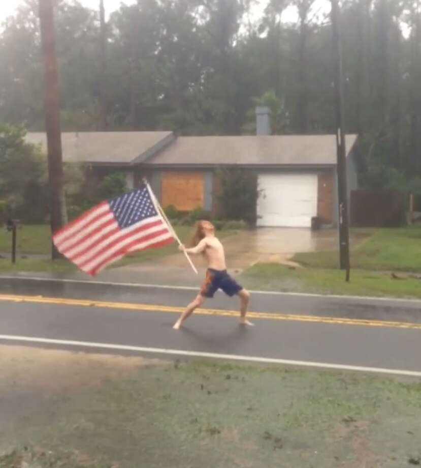 Viral News Express Home: Shirtless Rocker Takes On Hurricane Matthew In Headbanging