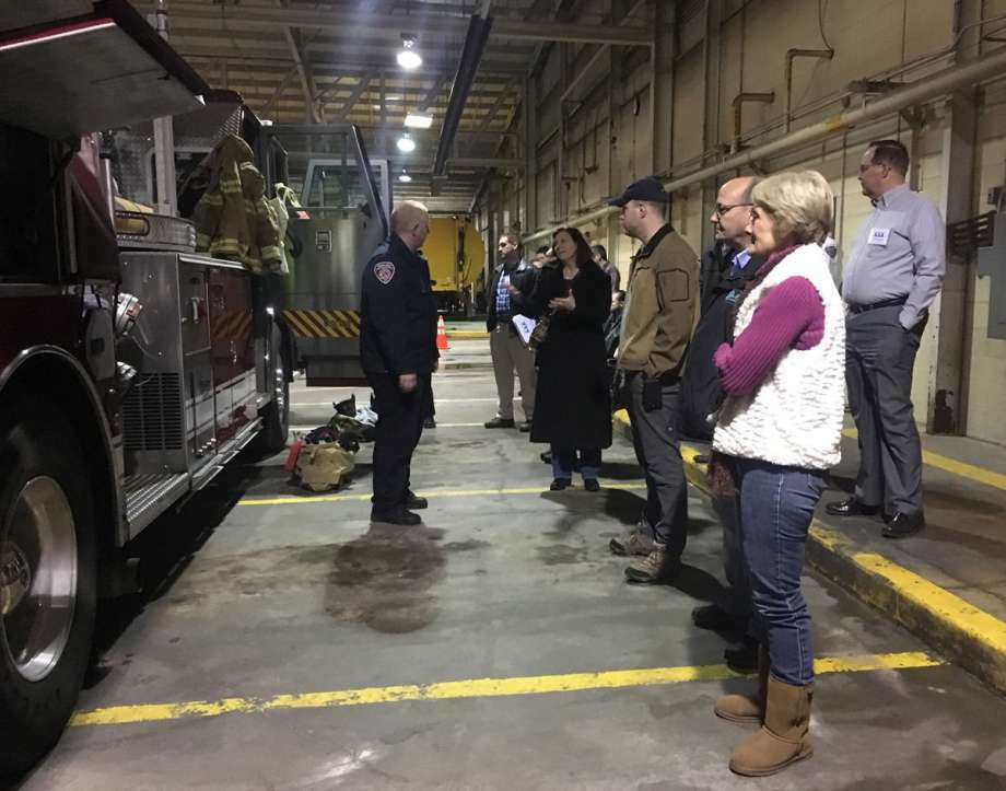 Daily News file photoCitizen's Academy participants learn about the different uses and tools included in the Station 1 fire truck.