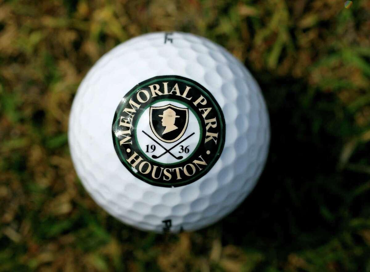 Memorial Park Golf Logo on a golf ball at Memorial Park Golf Course, Thursday, March 11, 2010, in Houston. FOR THE GOLF GUIDE. ( Karen Warren / Chronicle ) GOLF SPORTS EQUIPMENT