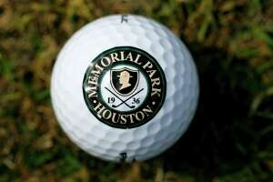 Memorial Park Golf Logo on a golf ball at Memorial Park Golf Course, Thursday, March 11, 2010, in Houston.  FOR THE GOLF GUIDE. ( Karen Warren / Chronicle )  GOLF SPORTS EQUIPMENT