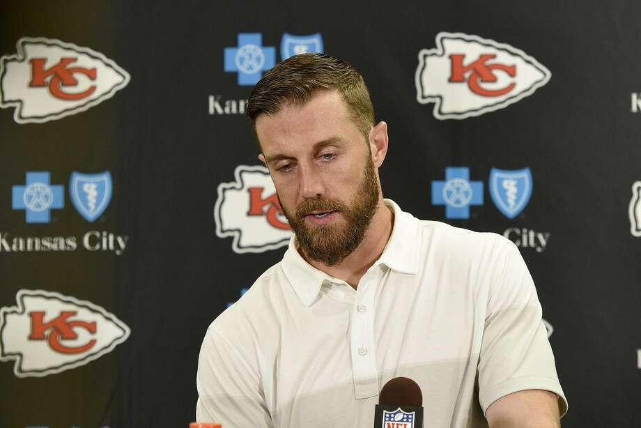 Kansas City Chiefs quarterback Alex Smith (11) during a press conference of following an NFL football game against the Pittsburgh Steelers on Sunday, Oct. 2, 2016, in Pittsburgh. Pittsburgh won 43-14.(AP Photo/Don Wright) Photo: Don Wright, Associated Press