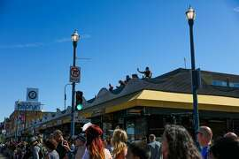 Crowds in San Francisco's Fisherman's Wharf.�The neighborhood best-known for tourism is interested in attracting locals, and Caille Millner has a few ideas.