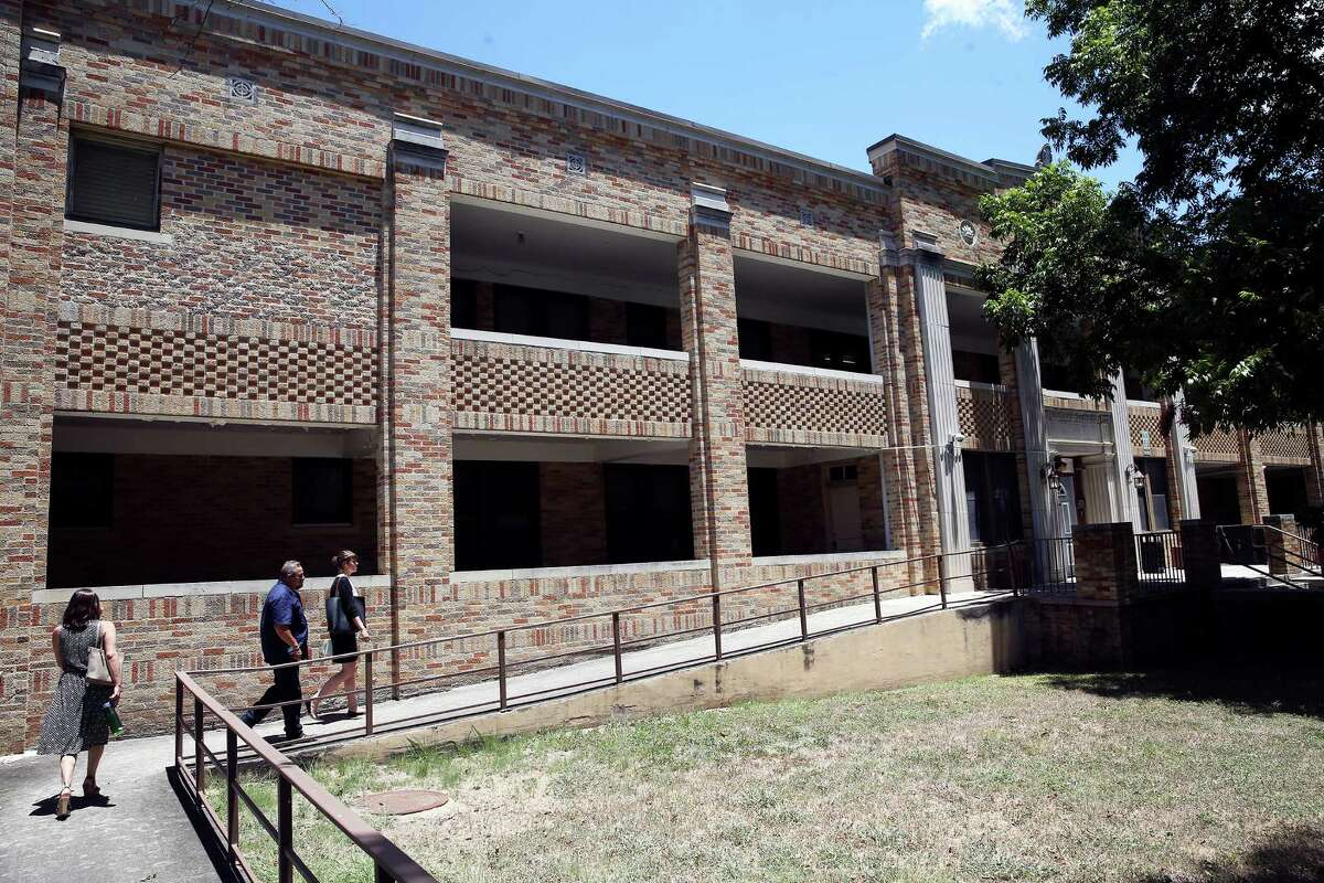 Brick siding appears to be of a long ago era as 80 percent of buildings at the State Hospital in San Antonio are considered to be in critical condition on July 21, 2016.