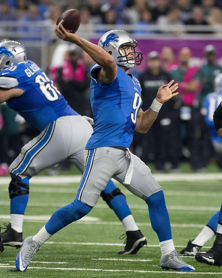 Lions quarterback Matthew Stafford threw for three touchdowns as Detroit snapped a three-game losing streak. Photo: Dave Reginek, Getty Images
