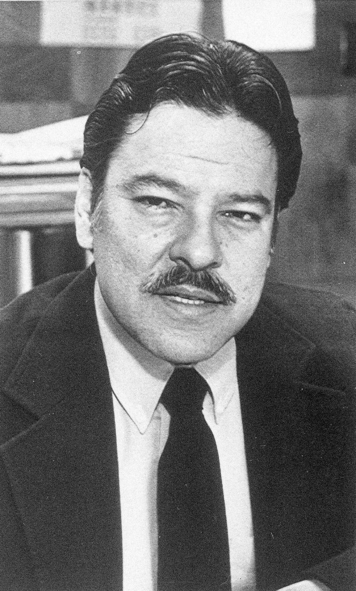 """FILE - In this 1984, file photo shows William C. """"Willie"""" Velasquez at an unknown location. A new VOCES/PBS documentary on Velasquez dives into the life of the late Latino voting rights advocate just as the nation's largest minority group is set to be a major player in the upcoming presidential election. Director Hector Galan says Velasquez was a key figure in developing the Latino voting bloc. Â?""""Willie Velasquez: Your Vote Is Your VoiceÂ?"""" begins airing on PBS stations Monday, Oct. 3, 2016. (AP Photo, File)"""