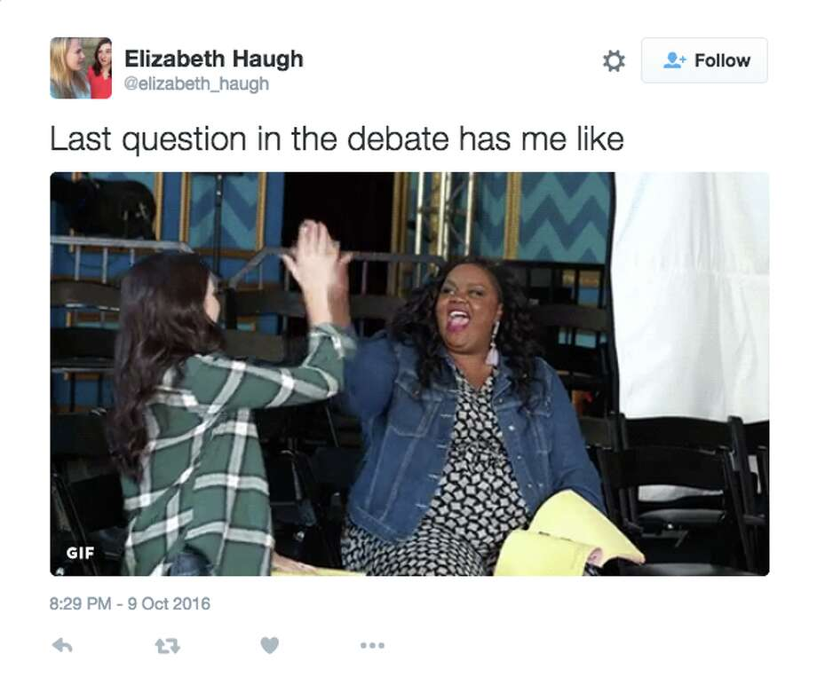 "Twitter reacts to the final question of the Sunday's presidential debate: ""Can you name one positive thing you respect in one another?"" Photo: Twitter Screenshot"