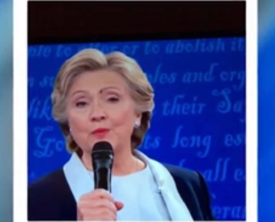 People freaked out when a fly landed on Hillary Clinton's forehead while she was in the middle of answering a question during the second presidential debate Sunday night. Photo: Screen Grab