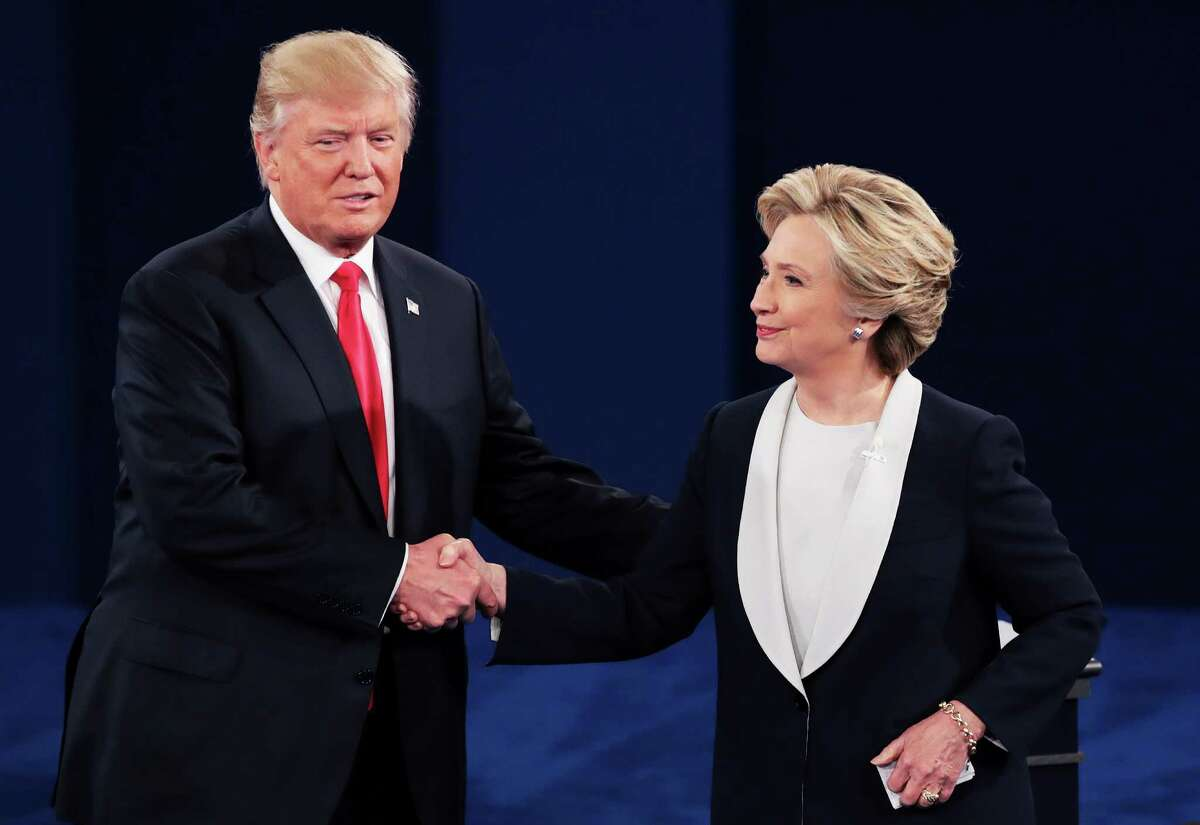 Donald Trump and Hillary Clinton do so after a rancorous debate in St. Louis. Take a look back at the social media reaction from the second presidential debate.