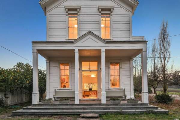 This property offers three residences. This is the first: the Farm House. Photos: MLS via Estately