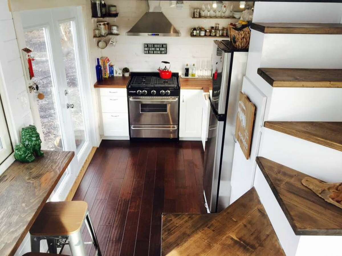 One young couple decided to ditch their expensive San Francisco apartment for a tiny home in the Santa Cruz mountains. The couple paid $80,000 for their 162 square foot home, plus $15,000 in solar panels. The couple was paying $3,500 per month for their apartment in The City.
