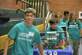 A scene from the robotics competition.