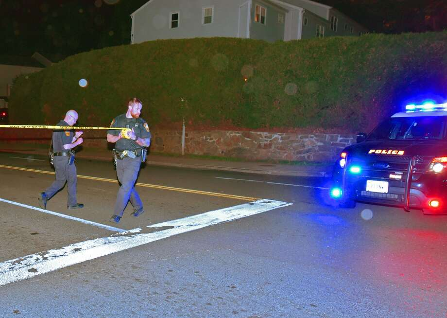 On May 11, 2016, at 9:30 p.m., the Norwalk Department of Police Service investigated a hit-and-run accident on Van Buren Avenue near the intersection of Bedford Avenue. Two pedestrians were struck by a gray BMW, which was last seen fleeing south on Van Buren Avenue. Photo: Harold F. Cobin