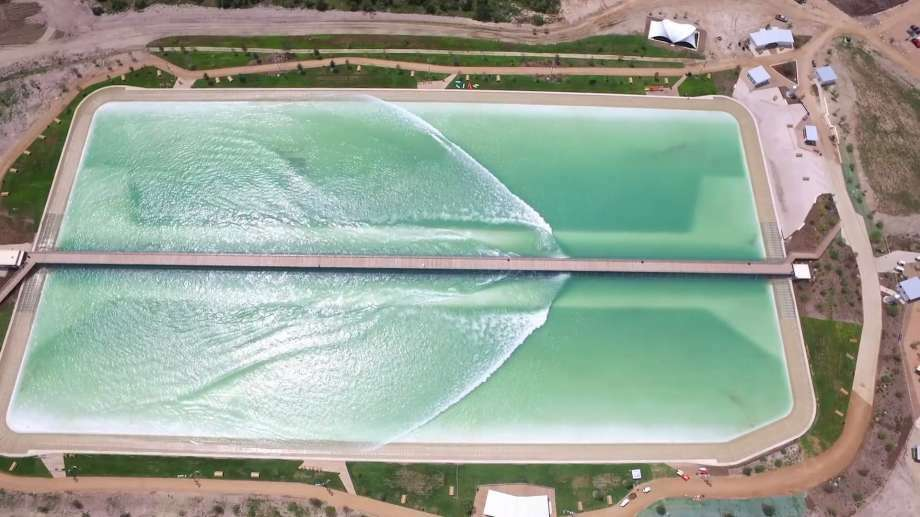 "An Austin-based company opened what they call ""America's first surf park,"" a lagoon that creates artificial waves of different sizes. Oct. 4, 2016.Click through the gallery to see pictures of Nland's surf park. Photo: NLand Surf Park LLC"