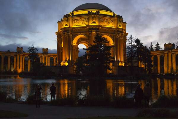 Visitors at the Palace of Fine Arts, on Sunday, Oct. 9, 2016 in San Francisco, Calif. The Palace of Fine arts is one of the 39 stops on the 49 mile San Francisco drive route.