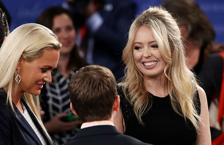 story tiffany trump dodge donald kiss presidential debate