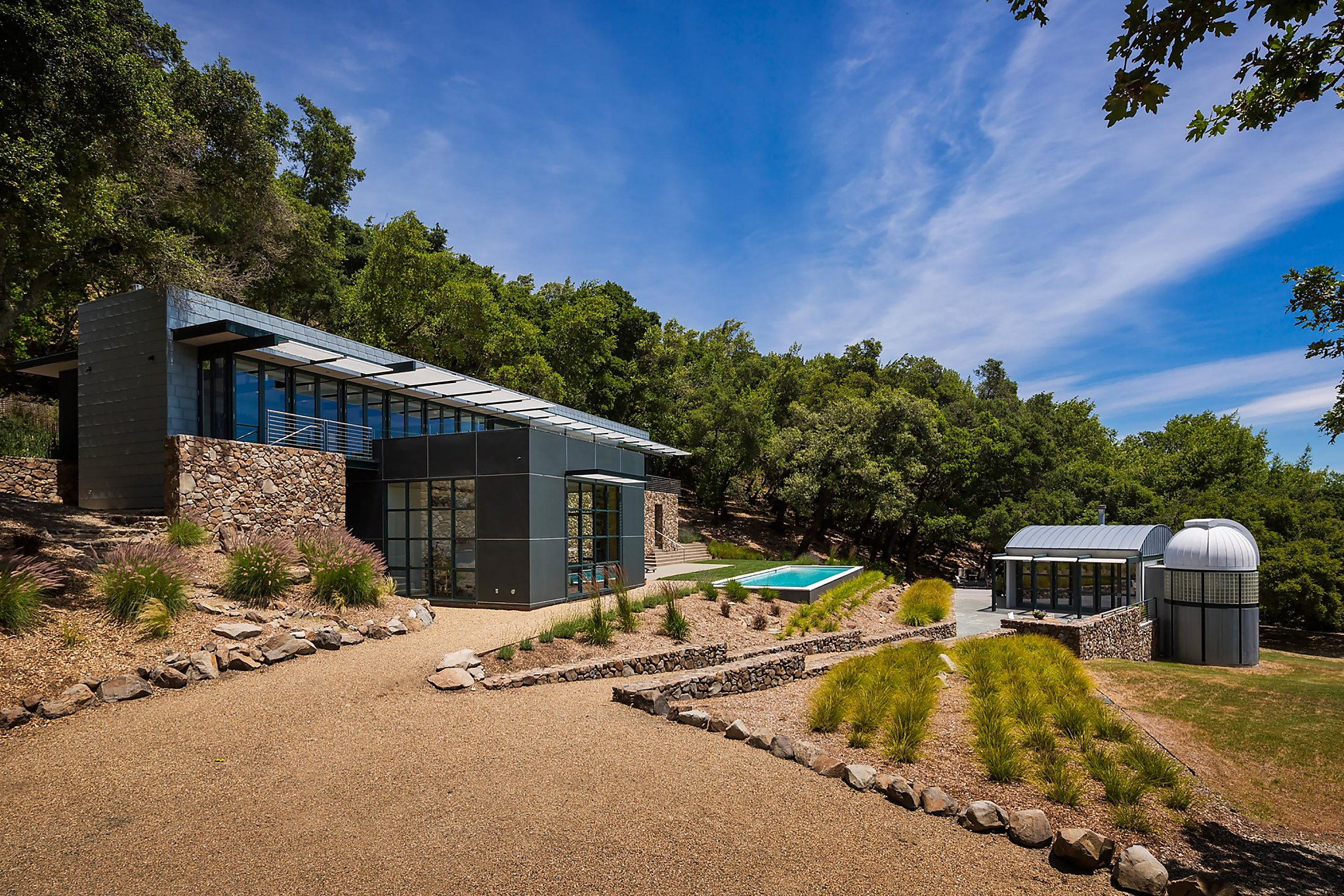 Dramatic luxury home in Sonoma features private observatory for stargazing