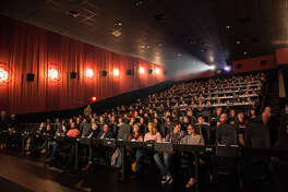 "Sold out audience for ""Rushmore"" at Alamo Drafthouse Cinema at Vintage Park."