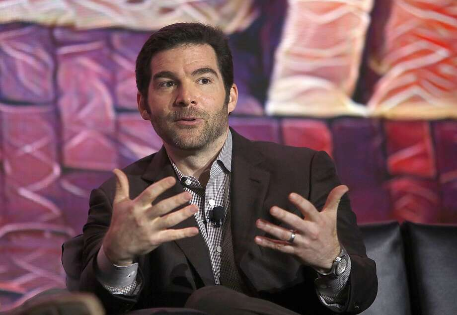 LinkedIn CEO Jeff Weiner quotes figures saying 5 million will lose their jobs by 2020 to machines and artificial intelligence. Photo: Liz Hafalia, The Chronicle