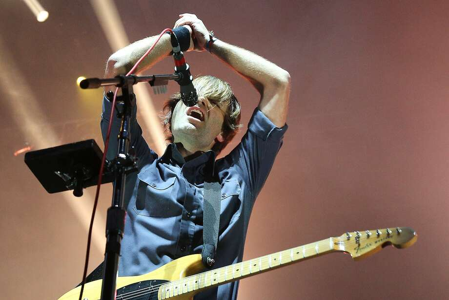 Ben Gibbard, performs with his band Death Cab for Cutie, on the Main Stage at Memorial Stadium, on day three of Bumbershoot, Monday, Aug. 4, 2016.(Genna Martin, seattlepi.com) Photo: GENNA MARTIN, SEATTLEPI.COM